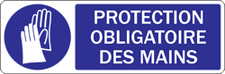 Affichette protection mains